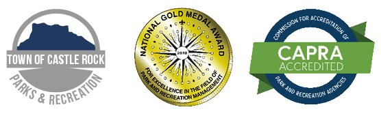 Parks and Recreation logo, NRPA Gold Medal Award, CAPRA Accredition