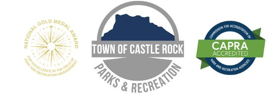 NRPA Gold Medal Award logo, Parks and Recreation logo, and the CAPRA Accreditation logo