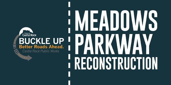 "Email graphic with words ""meadows parkway reconstruction"""