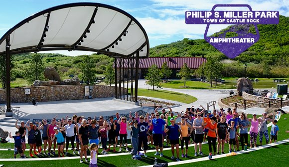 Group fitness class at Amphitheater