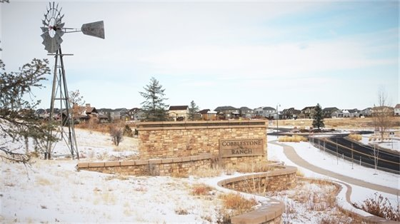 Photo of Cobblestone Ranch residential development site.