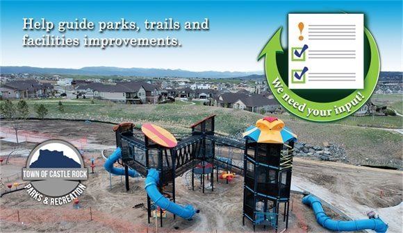 Graphic of playground under construction with CIP graphic