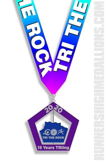 Tri the Rock 2020 Medal