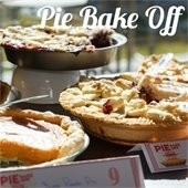 Photo of pies with Pie Bake Off written in cursive