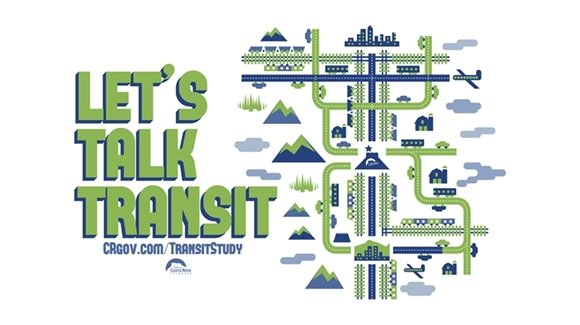 Let's talk transit. Learn more at CRgov.com/transitstudy