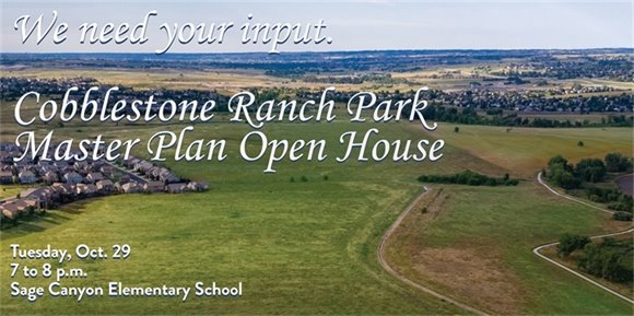Cobblestone Ranch Park Master Plan Open House Postcard front