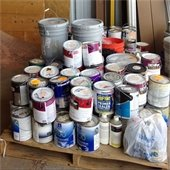Palette of paint and paint products