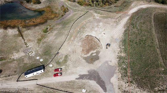 Aerial image just after groundbreaking