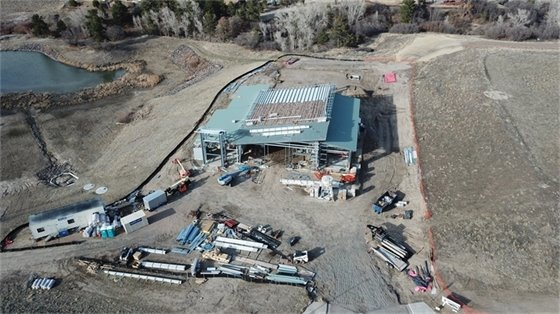 200 foot aerial view of new fire station