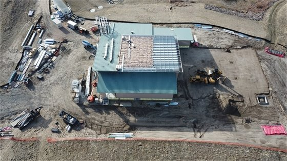250 feet view of new fire station from west side