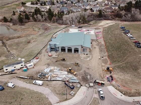 200 foot aerial photo of new fire station