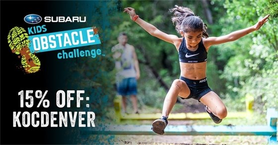 Subaru's Kids Obstacle Challenge - save 15 percent!
