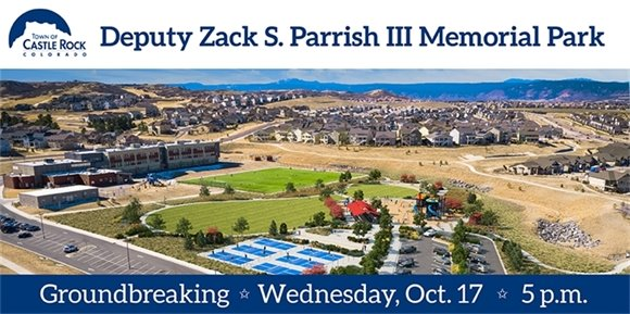 Groundbreaking ceremony for Deputy Zack S. Parrish III Memorial Park