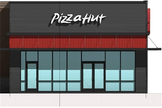 Rendering of the Pizza Hut site.