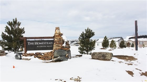 Photo of The Homestead at Crystal Valley Ranch development, under construction.
