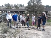 Group hike participants at Castlewood Canyon