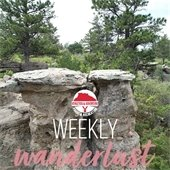 Weekly Wanderlust graphic featuring Gateway Mesa