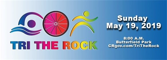 Tri the Rock logo with event information