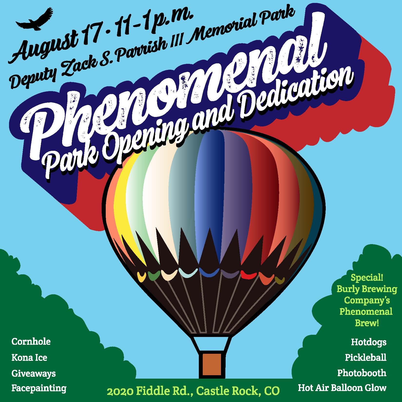 Parrish Park Phenomenal Park Opening and Dedication, 11 a.m.-1 p.m. Saturday, Aug. 17