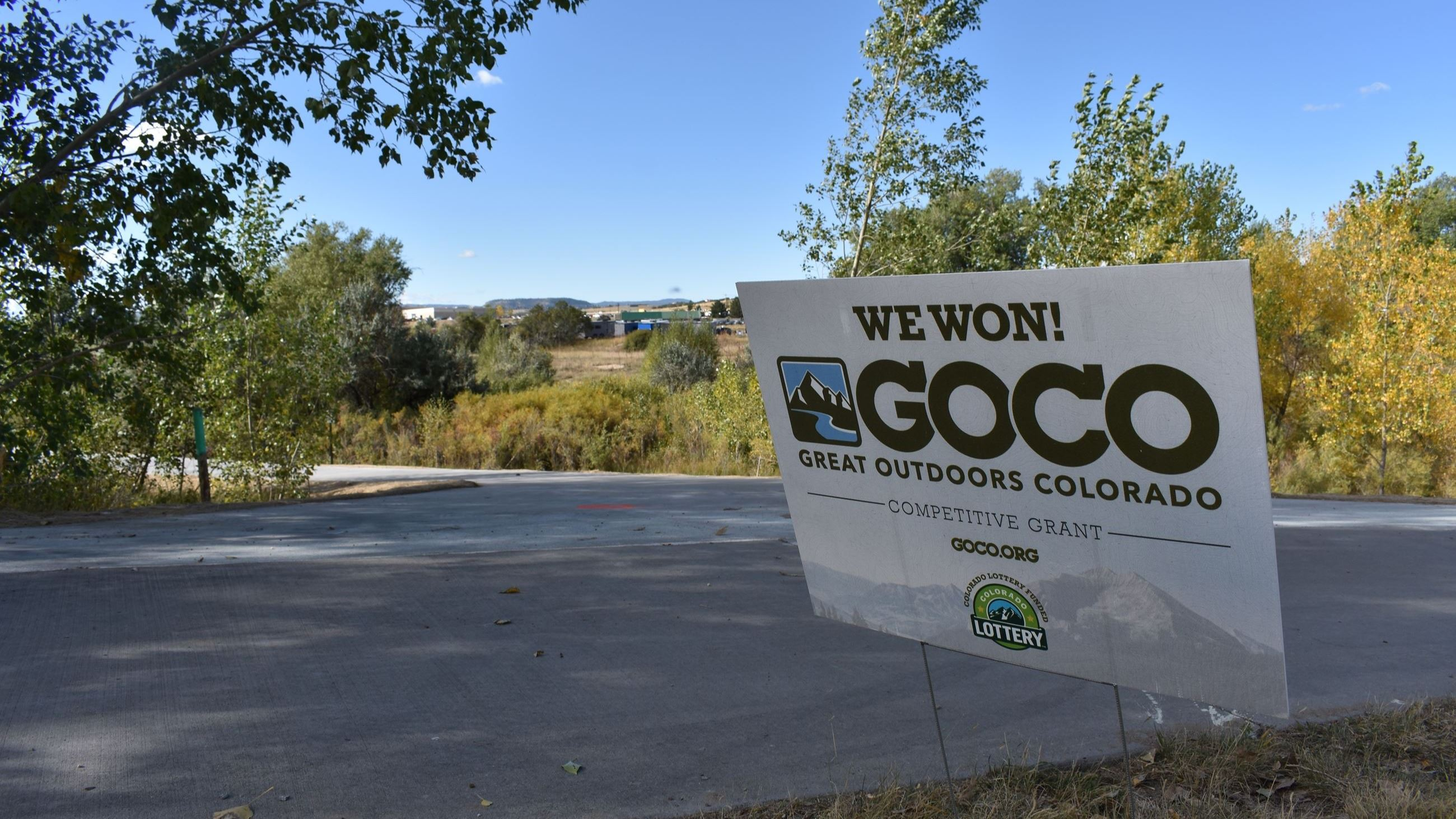 GOCO sign next to trail