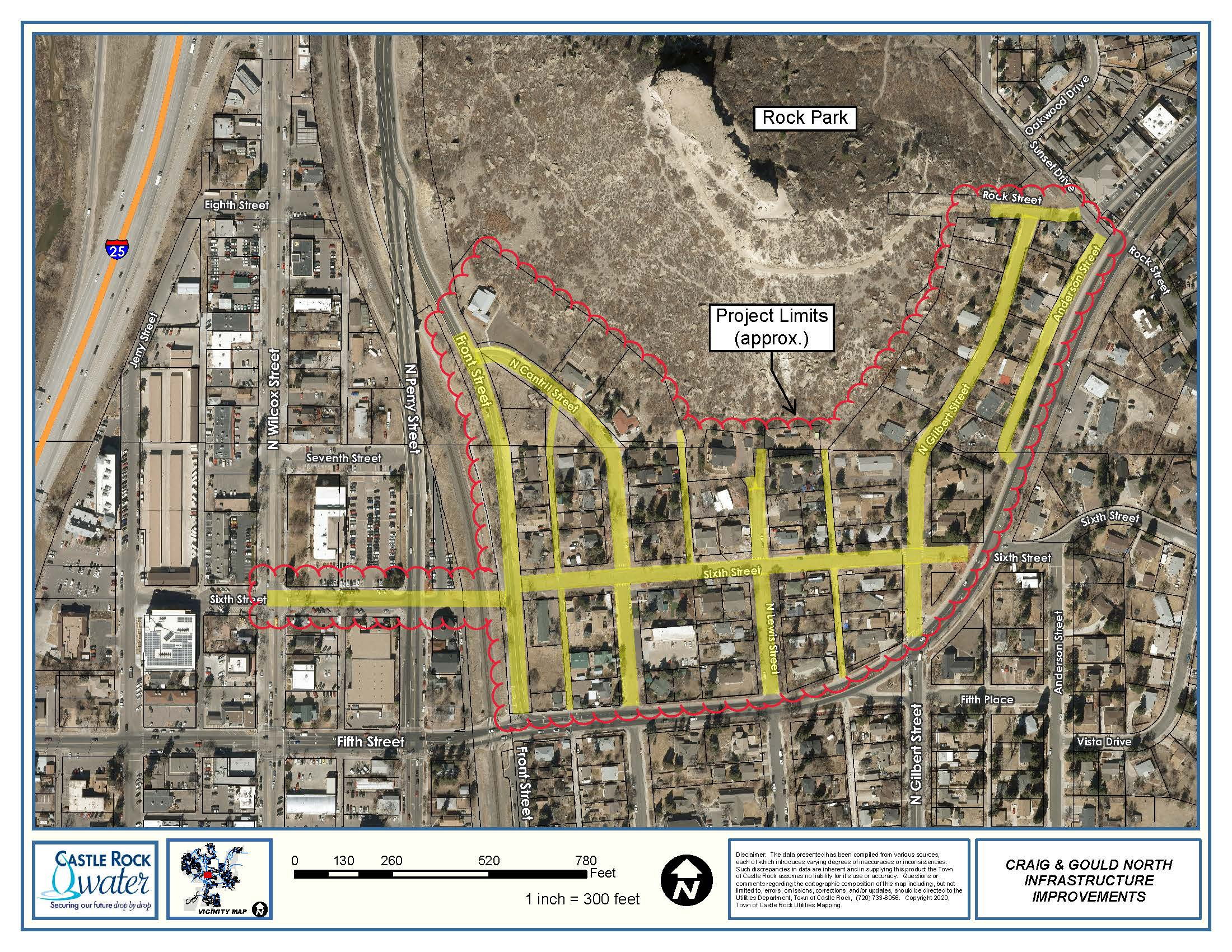 Craig & Gould stormwater project site map
