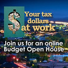 Join us for an online Budget Open House