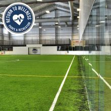 Indoor turf field at the MAC