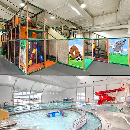 Climbing Structure-Leisure Pool combo images