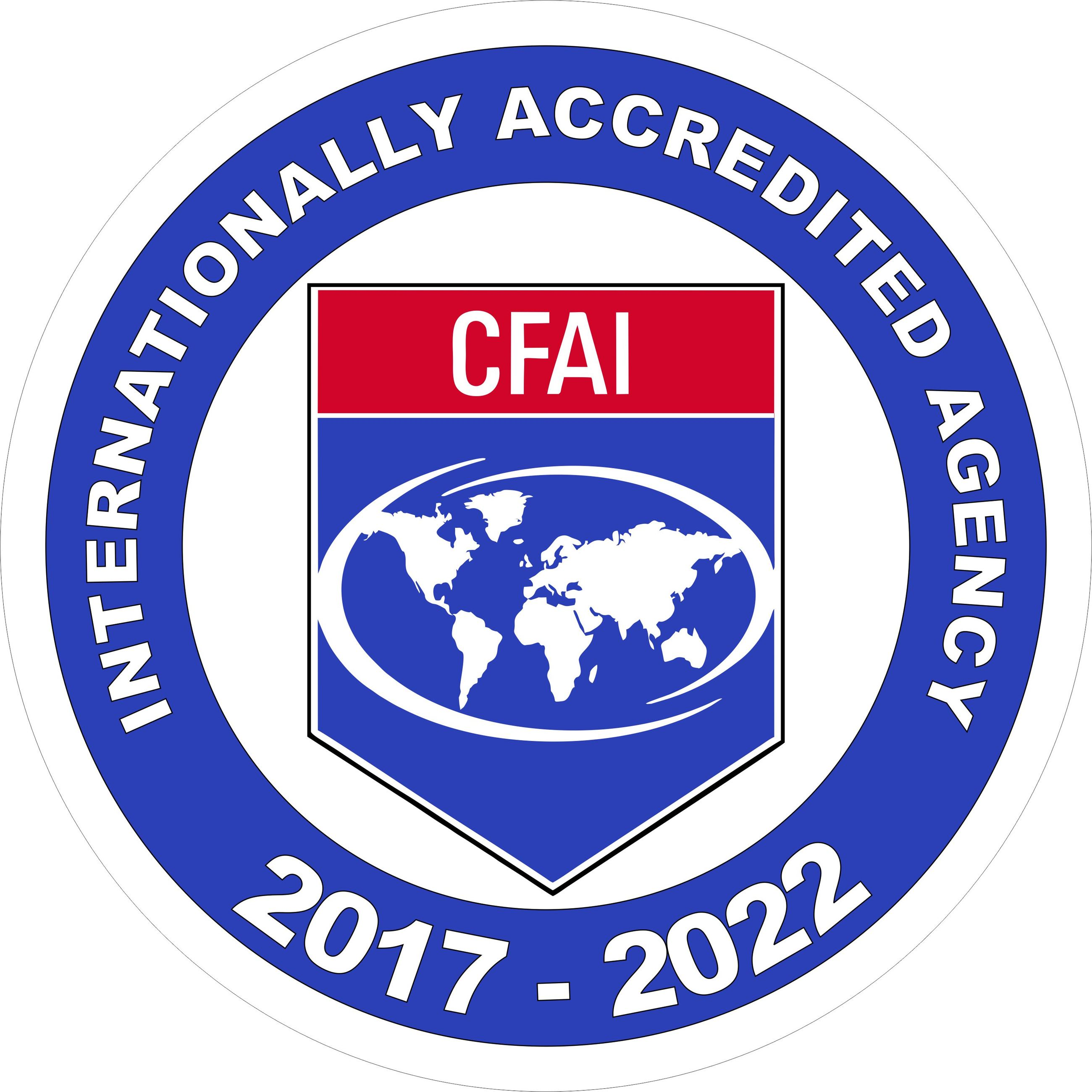 CFAI Internationally Accredited Agency 2017-2022 badge