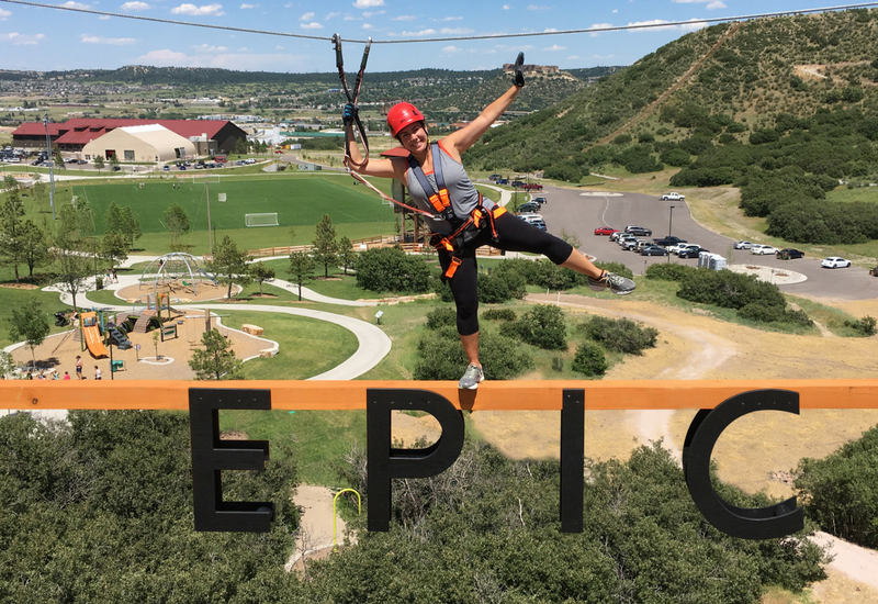 Epic Sky Trek Adventure Tower at Philip S. Miller Park