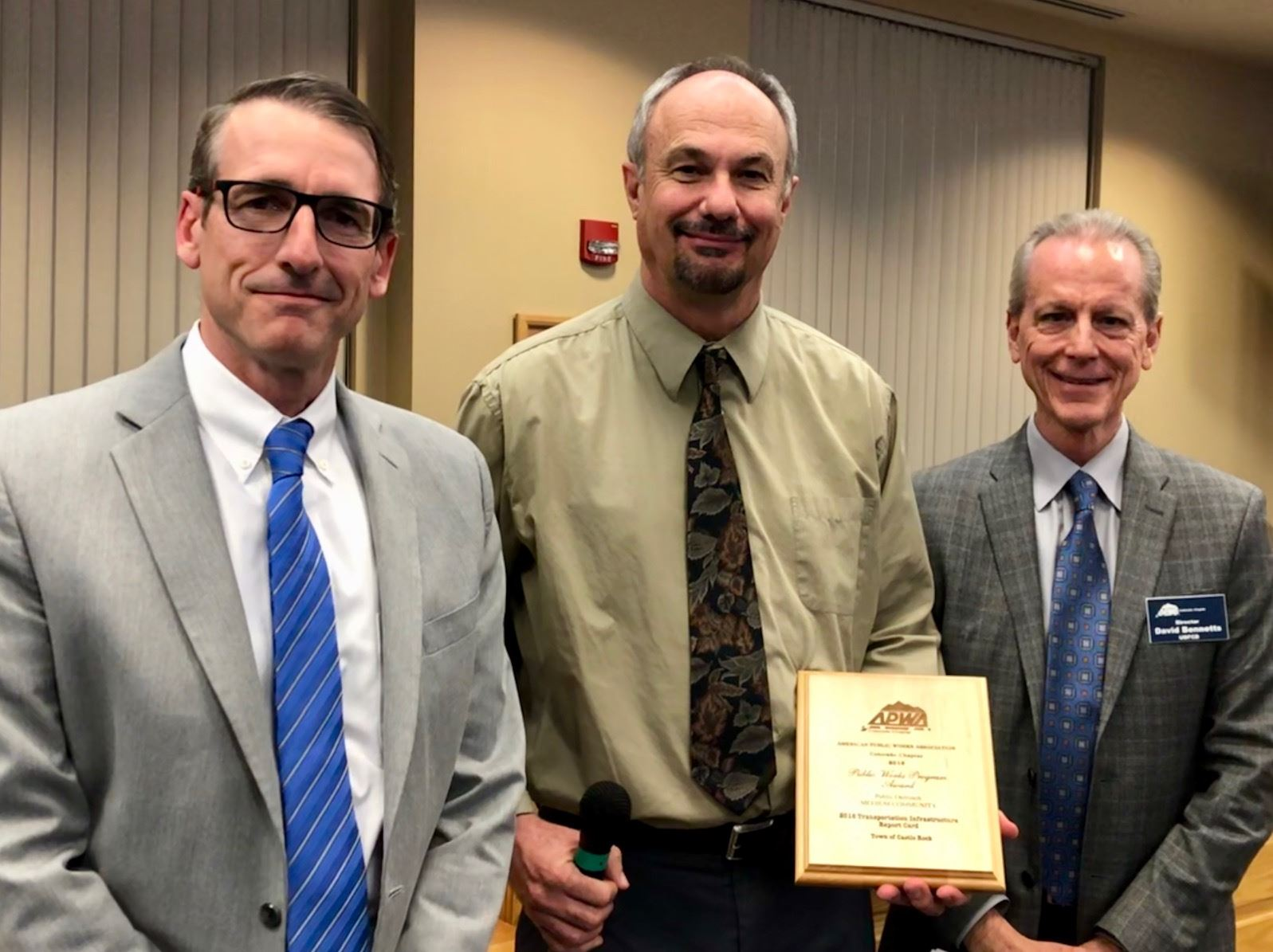 APWA Award presented to Director of Public Works Bob Goebel