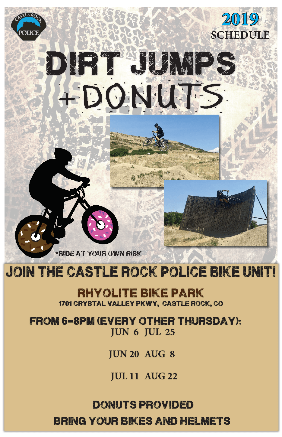 Dirt Jumps & Donuts flyer