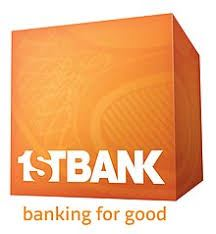 first bank logo sponsor for Tri the Rock