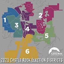 2021 Castle Rock Election Districts Map