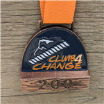 Medal with timber background